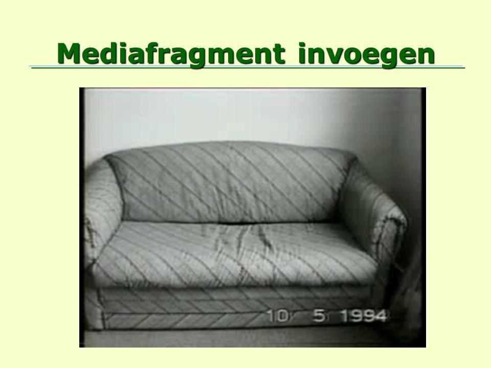 Mediafragment invoegen