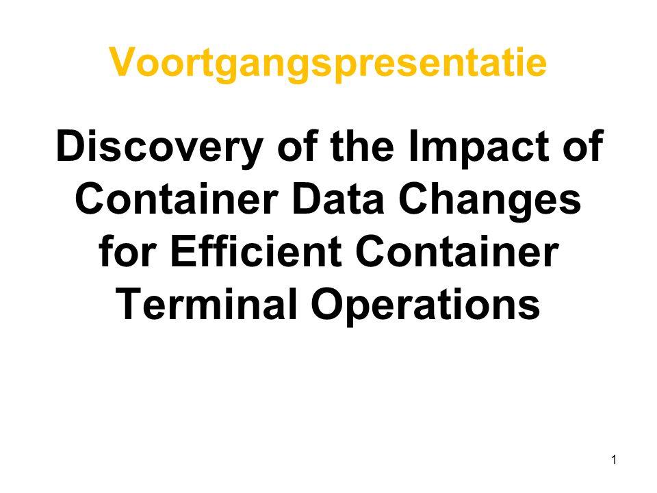 Even voorstellen Martijn Westbroek 32 jaar, samenwonend in Spijkenisse Supervisor bij Europe Container Terminals Vooropleiding: HBO Logistiek en Economie Studie BPMIT Afstudeerrichting Business Intelligence Afstudeerbegeleider: dr.E.E.