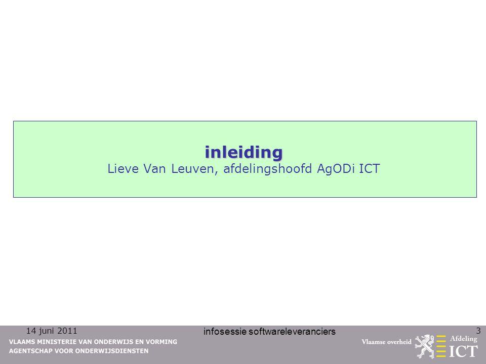 14 juni 2011 infosessie softwareleveranciers 4 personeel personeel Jeroen Depoortere
