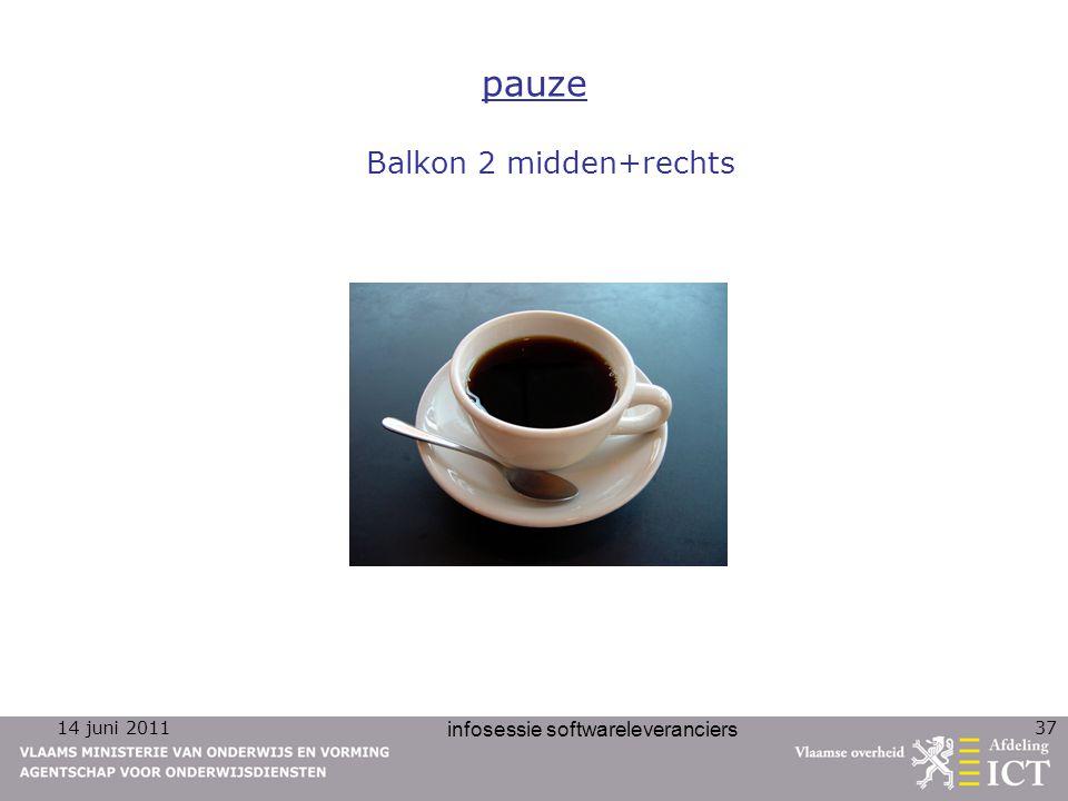 14 juni 2011 infosessie softwareleveranciers 37 pauze Balkon 2 midden+rechts