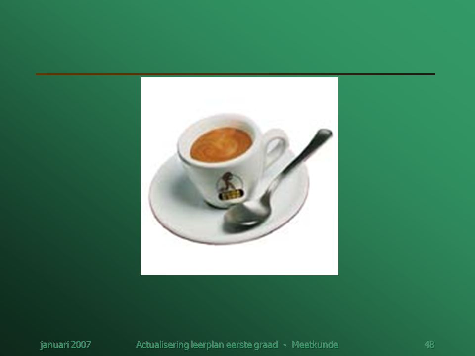 januari 2007Actualisering leerplan eerste graad - Meetkunde48