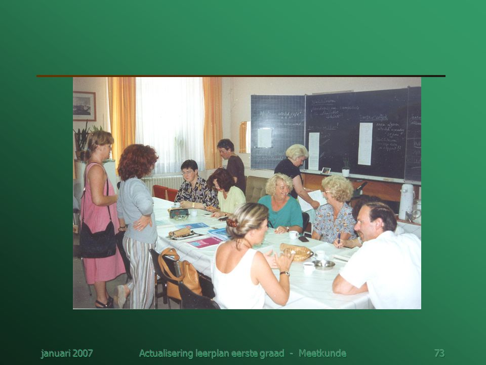 januari 2007Actualisering leerplan eerste graad - Meetkunde73