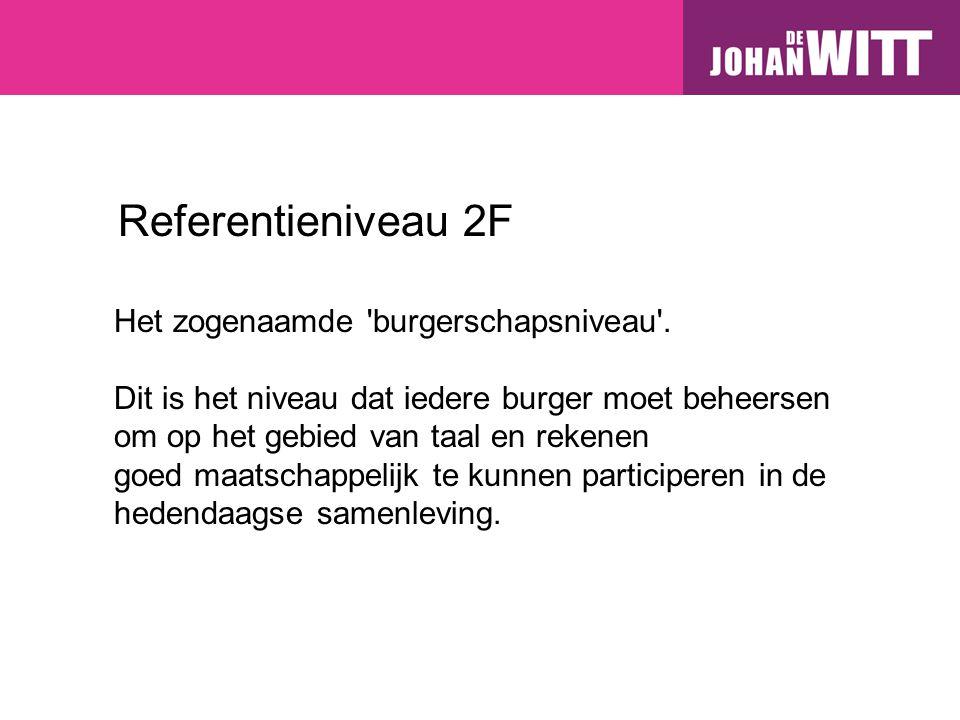 Referentieniveau 2F Het zogenaamde burgerschapsniveau .