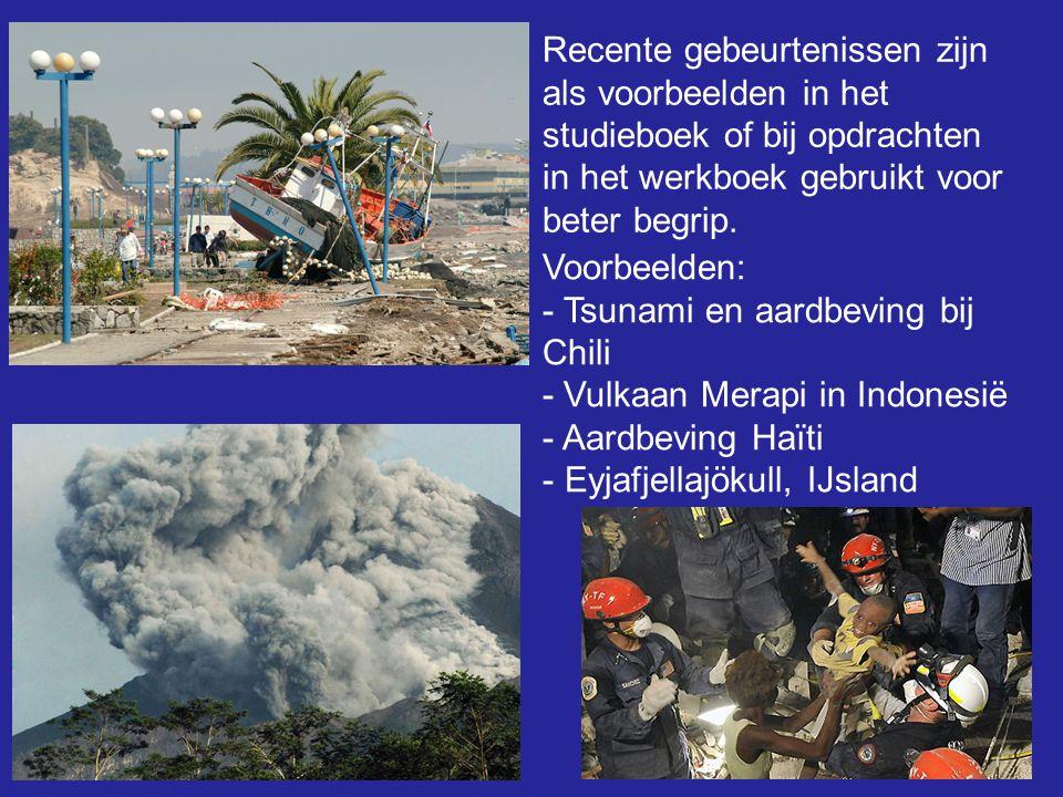 Verplaatsen van thema's: - Thema aardbevingen en tsunami's verplaatst van paragraaf 6 naar paragraaf 4: Platentektoniek.