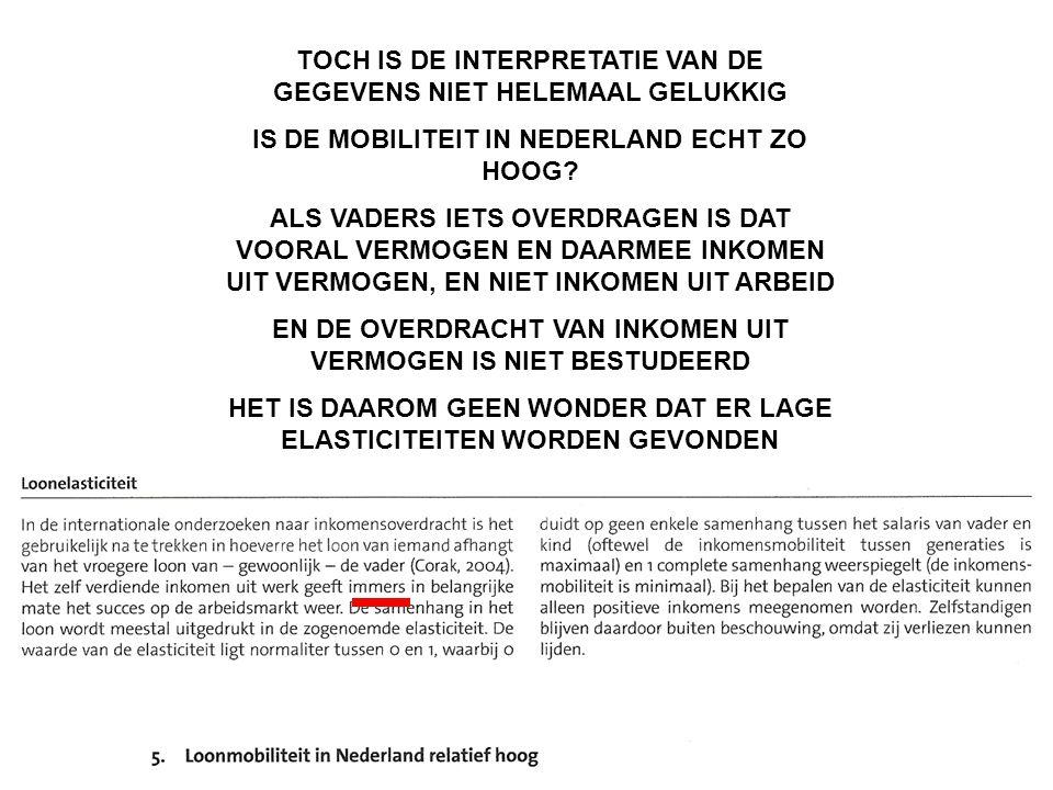 TOCH IS DE INTERPRETATIE VAN DE GEGEVENS NIET HELEMAAL GELUKKIG IS DE MOBILITEIT IN NEDERLAND ECHT ZO HOOG.