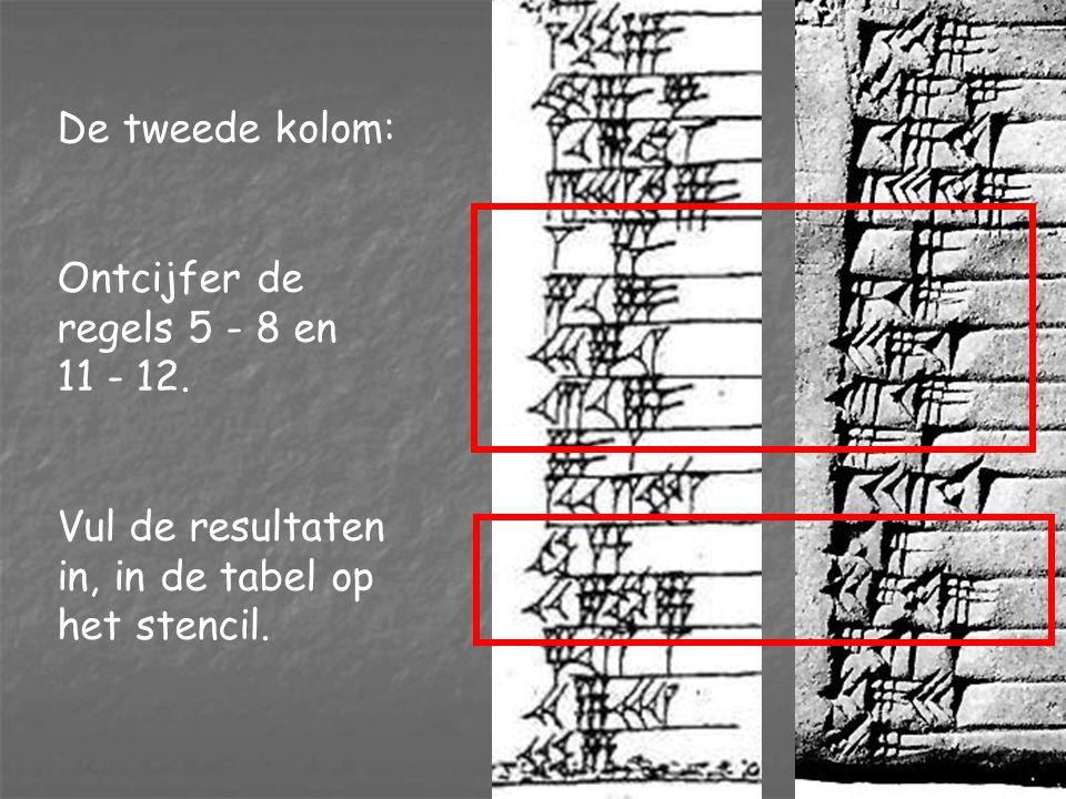 De laatste twee kolommen: Een vaste uitdrukking, en rangnummers.