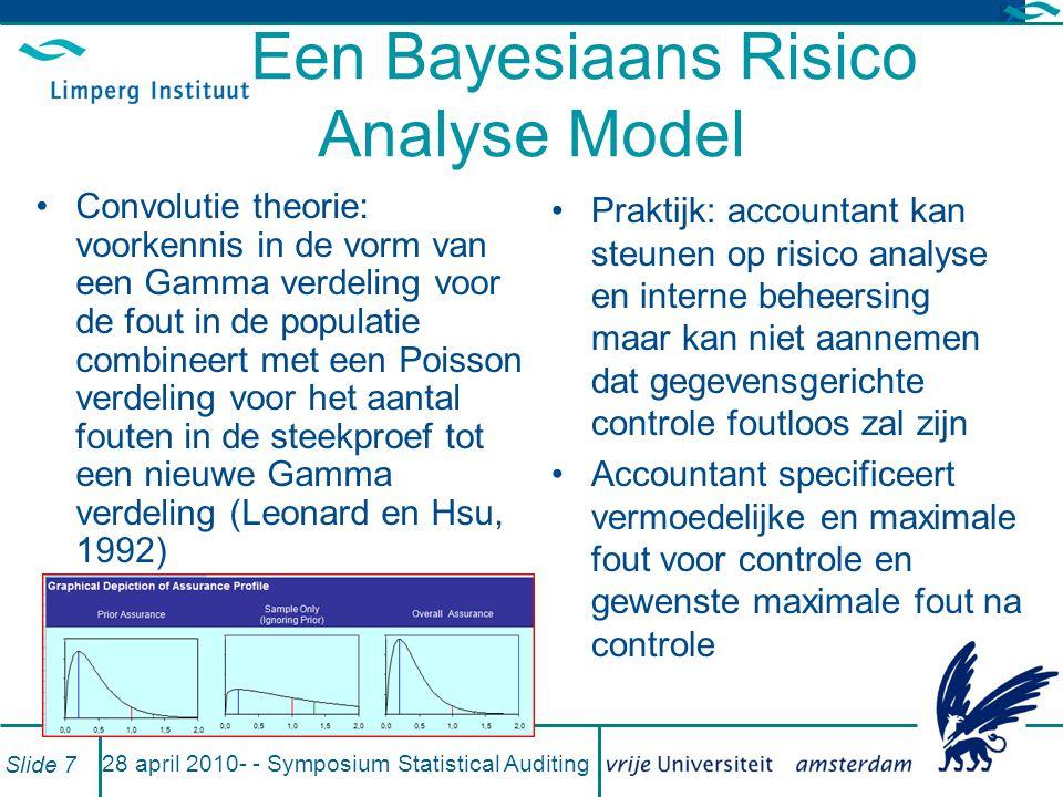 voorbeeld 28 april 2010- - Symposium Statistical Auditing Slide 8