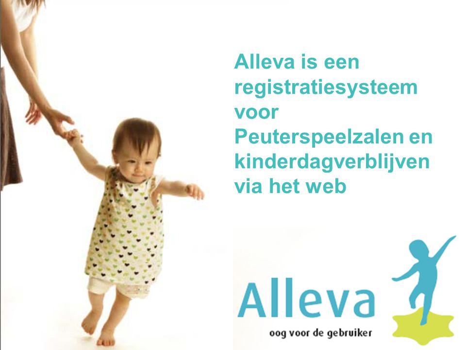 Alleva is een registratiesysteem voor Peuterspeelzalen en kinderdagverblijven via het web