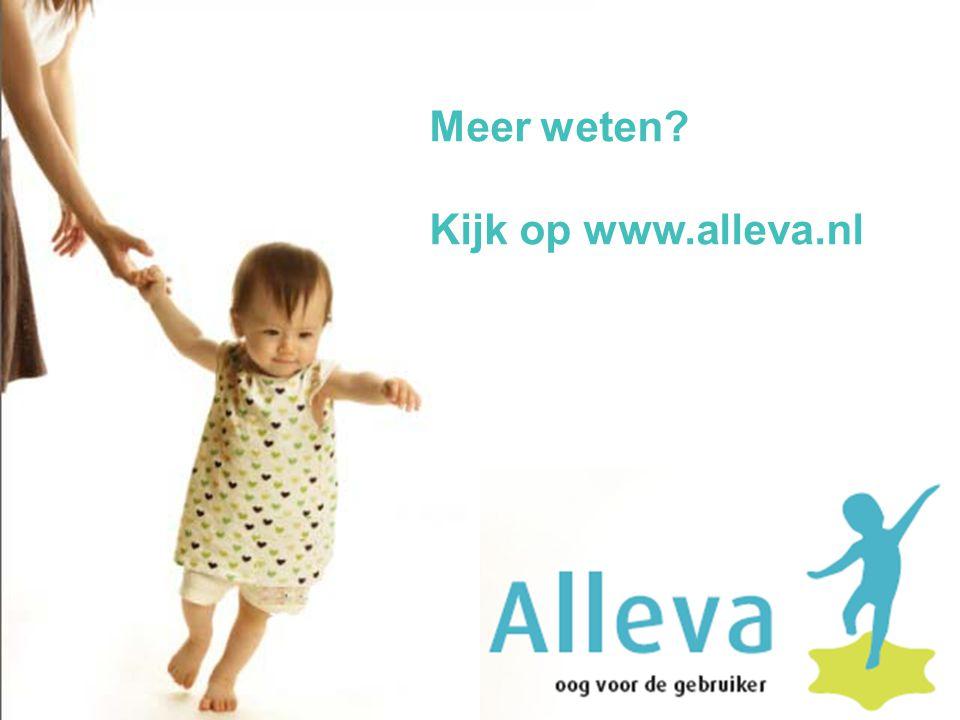 Meer weten? Kijk op www.alleva.nl