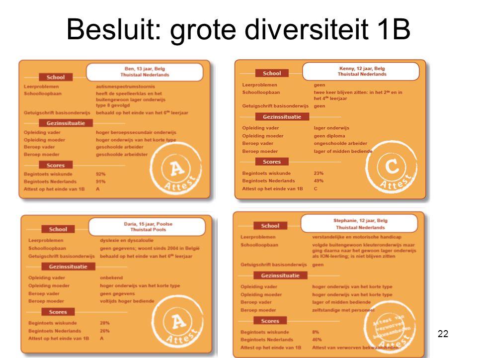 22 Besluit: grote diversiteit 1B
