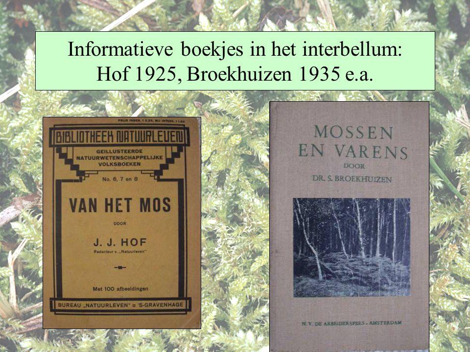 Informatieve boekjes in het interbellum: Hof 1925, Broekhuizen 1935 e.a.