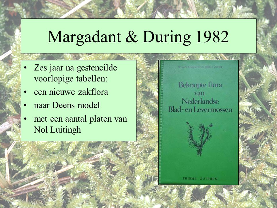 Margadant & During 1982 Zes jaar na gestencilde voorlopige tabellen: een nieuwe zakflora naar Deens model met een aantal platen van Nol Luitingh