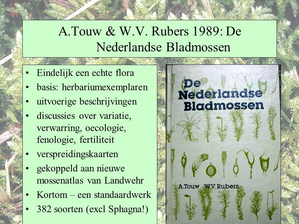 A.Touw & W.V. Rubers 1989: De Nederlandse Bladmossen Eindelijk een echte flora basis: herbariumexemplaren uitvoerige beschrijvingen discussies over va