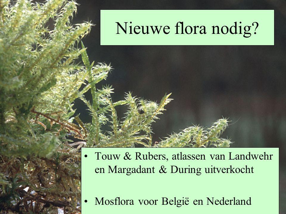 Nieuwe flora nodig? Touw & Rubers, atlassen van Landwehr en Margadant & During uitverkocht Mosflora voor België en Nederland