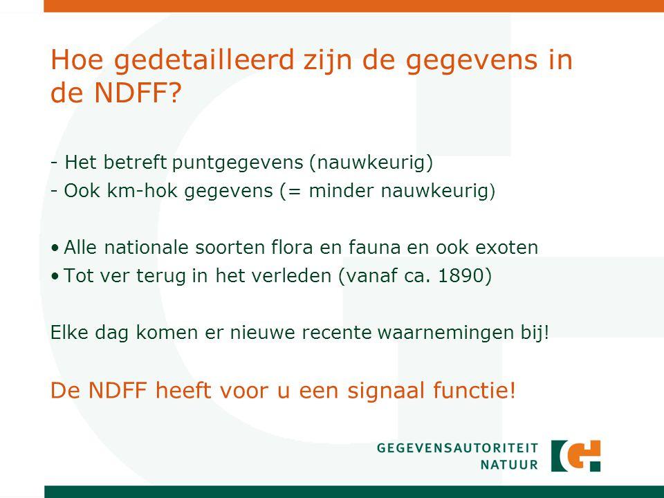 Hoe gedetailleerd zijn de gegevens in de NDFF.