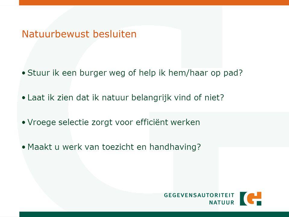 Wat doet de GaN niet.De Gegevensautoriteit natuur is niet heel Nederland aan het inventariseren.