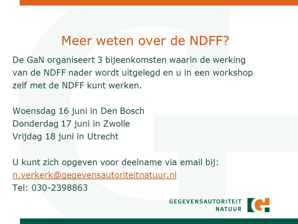 Meer weten over de NDFF.