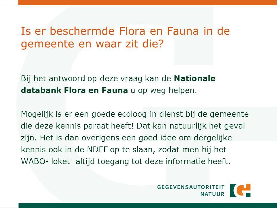 Wat is de Nationale Databank Flora en Fauna.