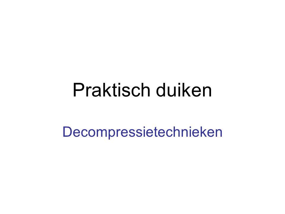 Praktisch duiken Decompressietechnieken