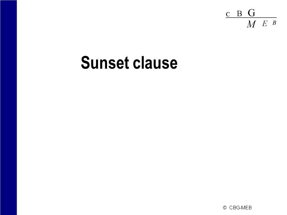 © CBG-MEB Sunset clause