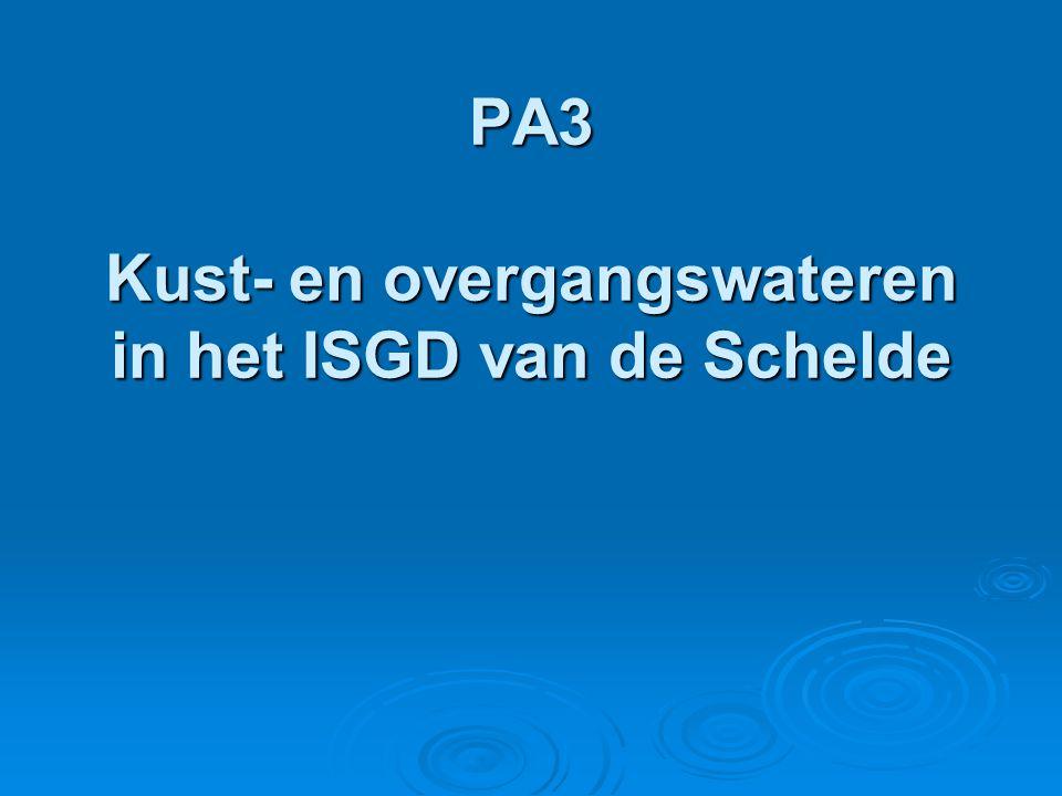 PA3 Kust- en overgangswateren in het ISGD van de Schelde