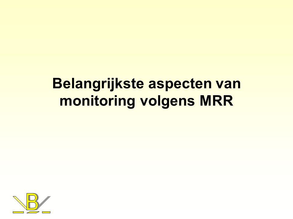 Belangrijkste aspecten van monitoring volgens MRR