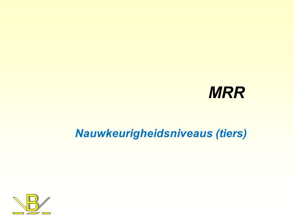 MRR Nauwkeurigheidsniveaus (tiers)
