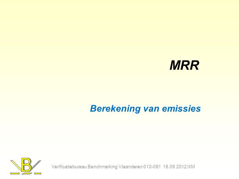 MRR Berekening van emissies