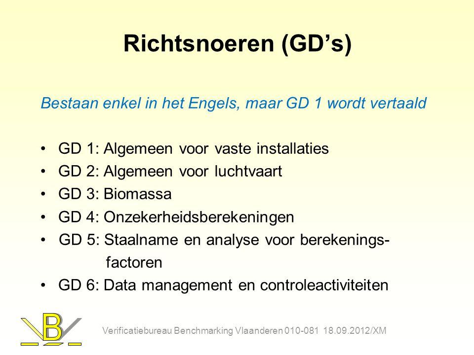 Richtsnoeren (GD's) Bestaan enkel in het Engels, maar GD 1 wordt vertaald GD 1: Algemeen voor vaste installaties GD 2: Algemeen voor luchtvaart GD 3: