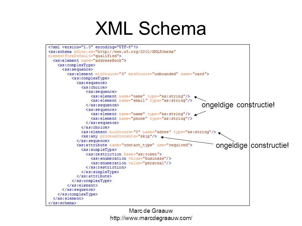 Marc de Graauw http://www.marcdegraauw.com/ XML Schema ongeldige constructie!