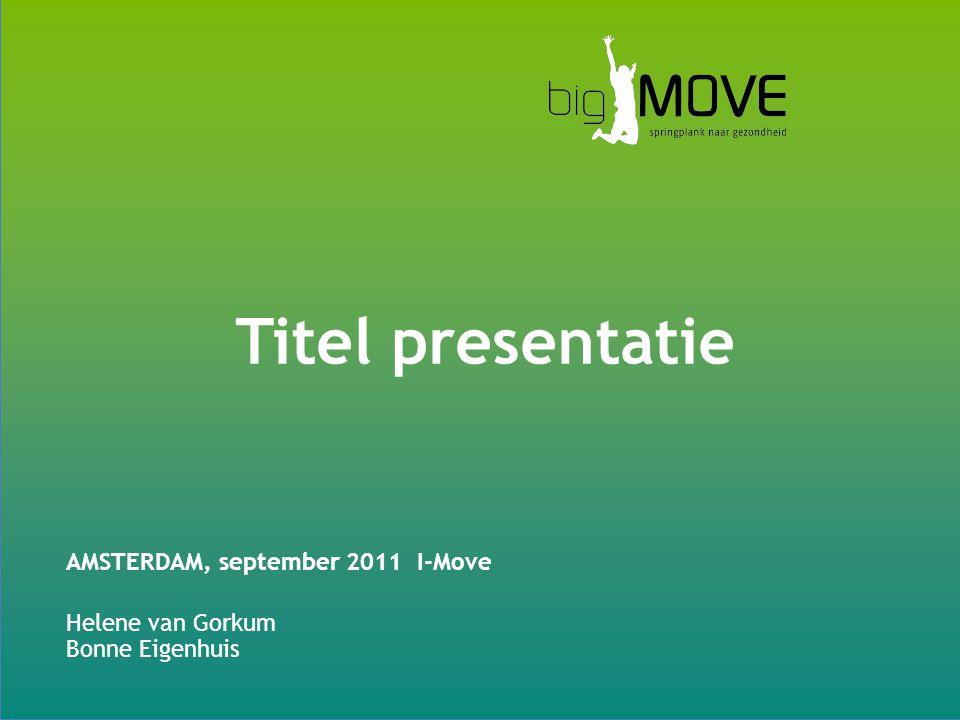 Titel presentatie AMSTERDAM, september 2011 I-Move Helene van Gorkum Bonne Eigenhuis