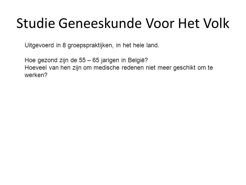 Studie Geneeskunde Voor Het Volk Uitgevoerd in 8 groepspraktijken, in het hele land.