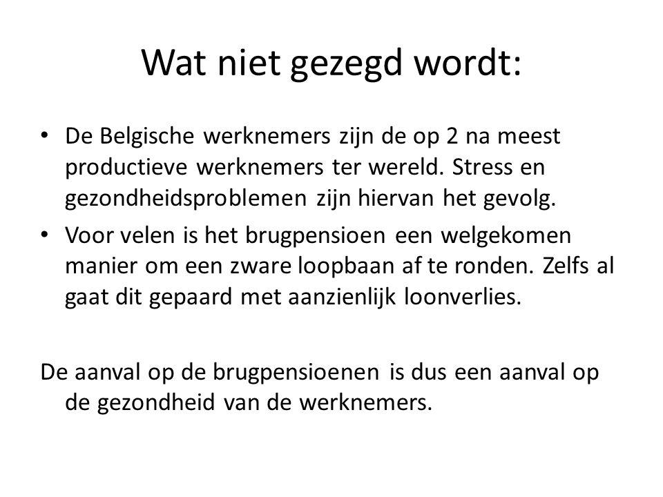 Wat niet gezegd wordt: De Belgische werknemers zijn de op 2 na meest productieve werknemers ter wereld.