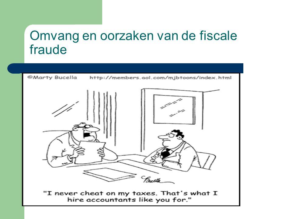 Omvang en oorzaken van de fiscale fraude