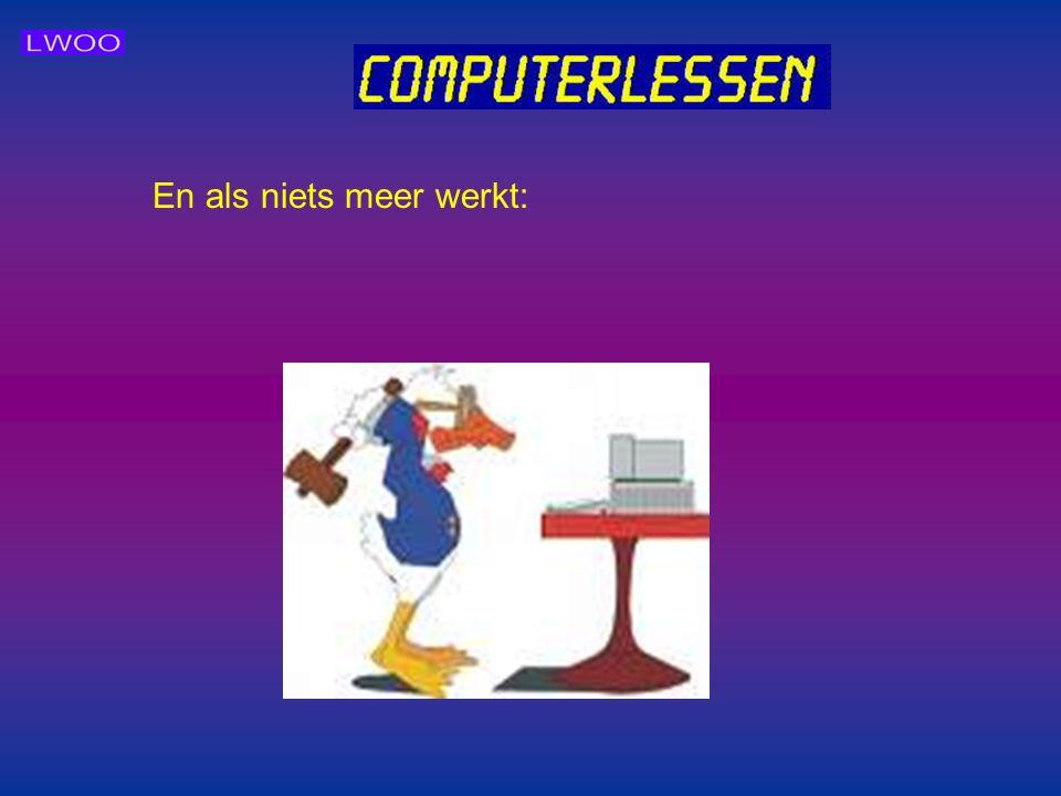 TenslotteTenslotte Als laatste willen we de leerlingen een werkhouding ten aanzien van de computer meegeven. Een computer is net alleen om mee te spel