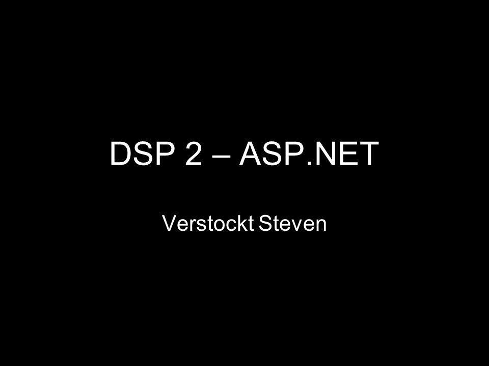 DSP 2 – ASP.NET Verstockt Steven