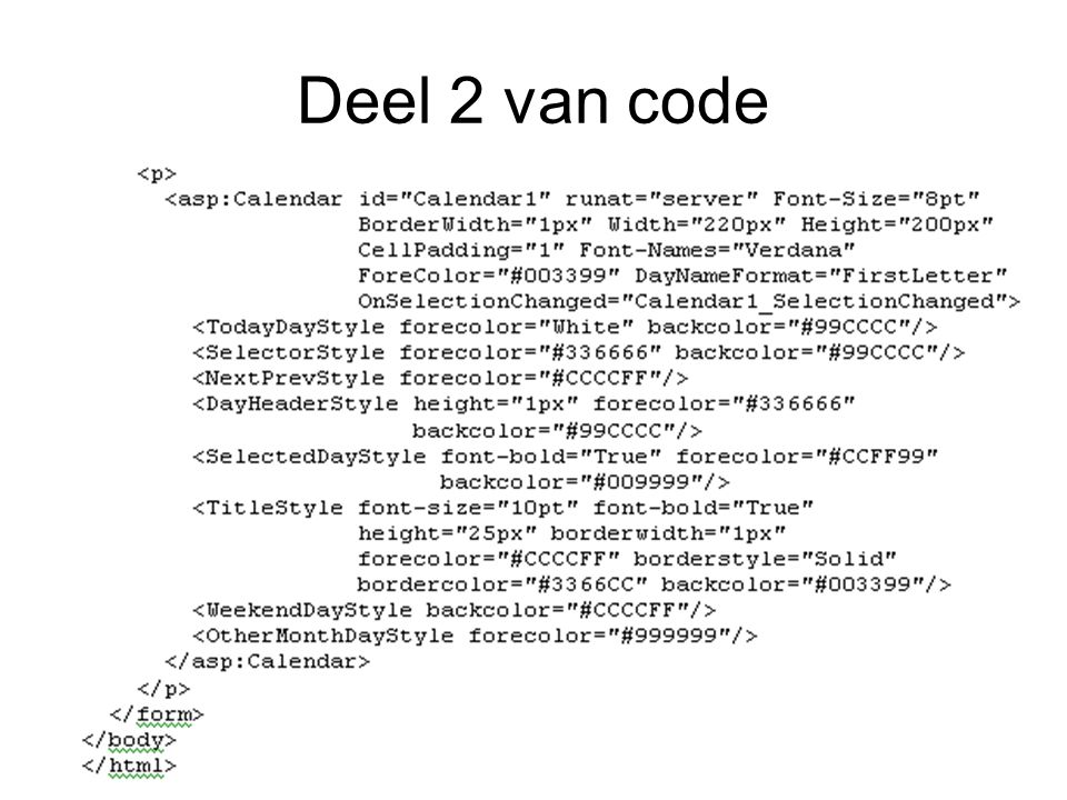 Deel 2 van code