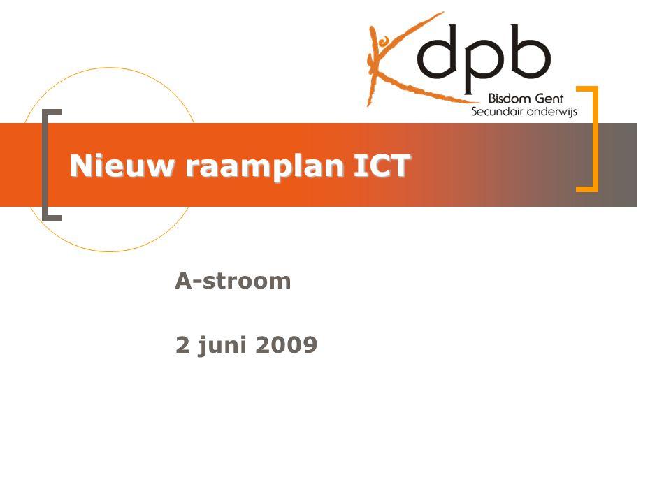 Nieuw raamplan ICT A-stroom 2 juni 2009