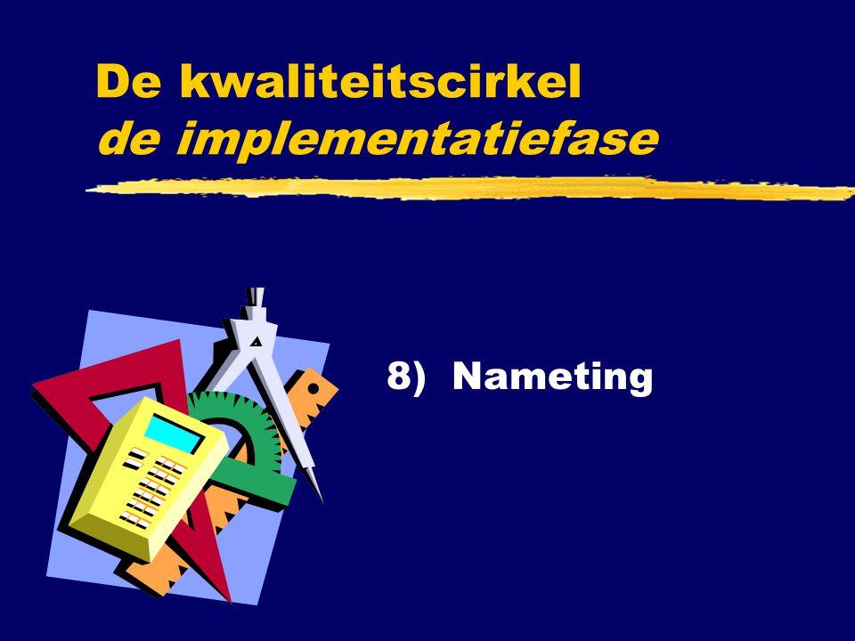 8) Nameting De kwaliteitscirkel de implementatiefase