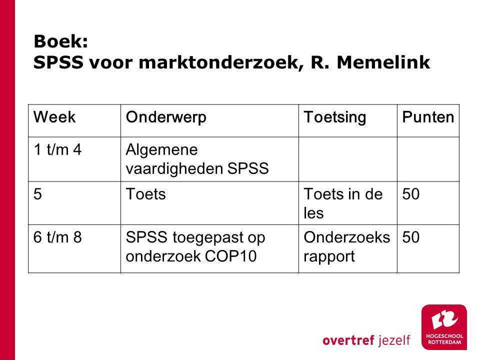 Boek: SPSS voor marktonderzoek, R.