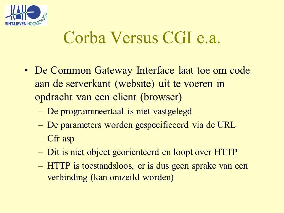 Corba Versus CGI e.a.