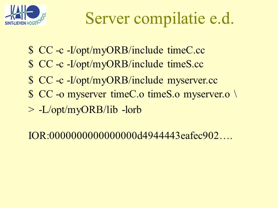 Server compilatie e.d.