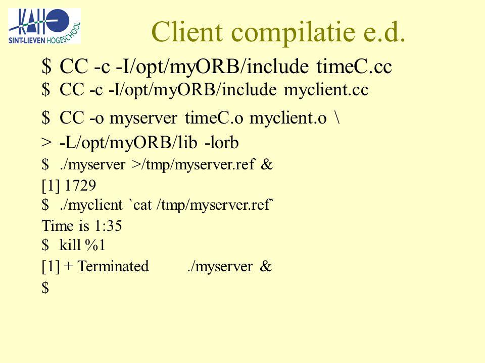 Client compilatie e.d.
