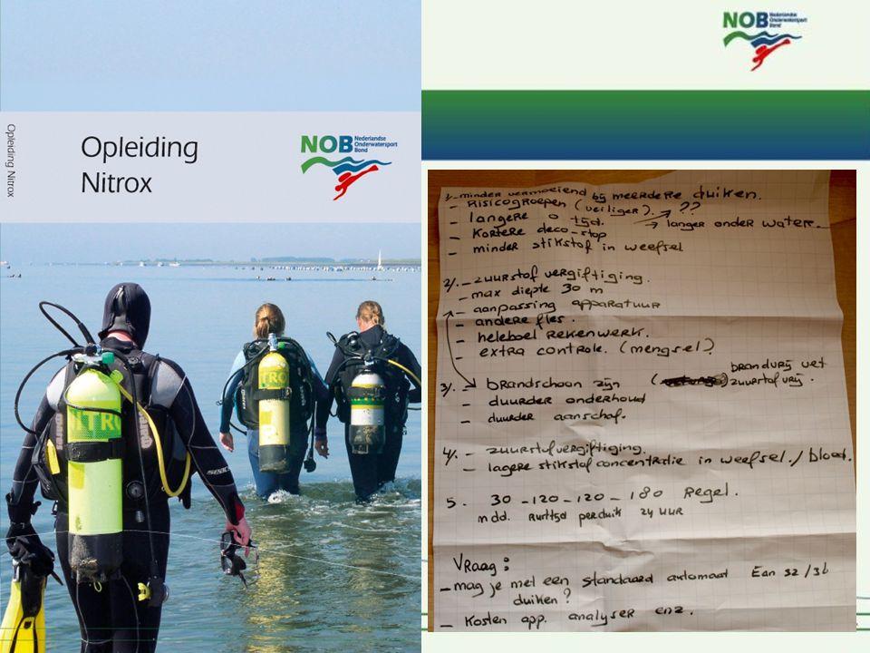 Rob Kool NOB I 120 Nitrox basis – les 2 De aftrap De terugblik – O2 – Het vulstation – Vragen.