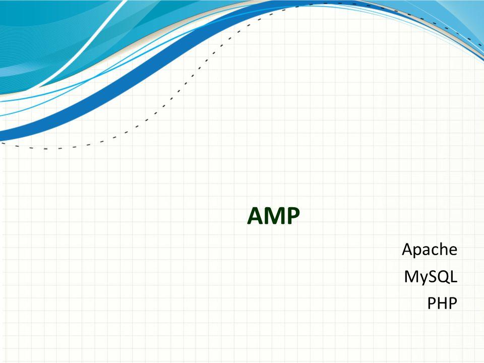 AMP Apache MySQL PHP