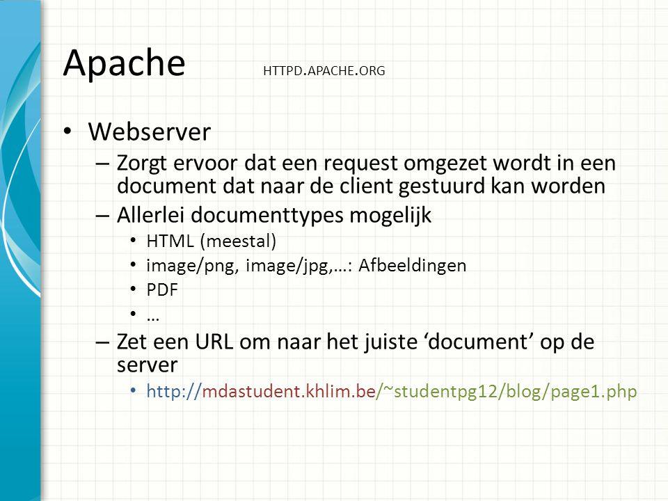 Apache HTTPD. APACHE.
