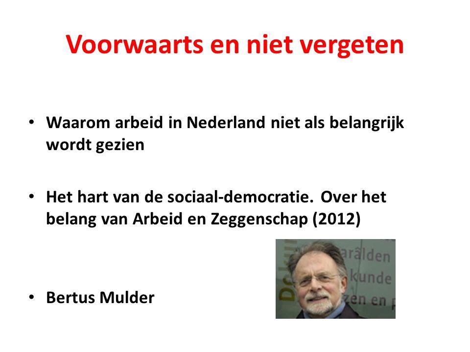 Voorwaarts en niet vergeten Waarom arbeid in Nederland niet als belangrijk wordt gezien Het hart van de sociaal-democratie.