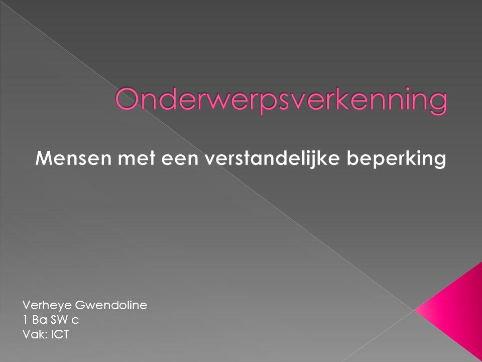 Verheye Gwendoline 1 Ba SW c Vak: ICT