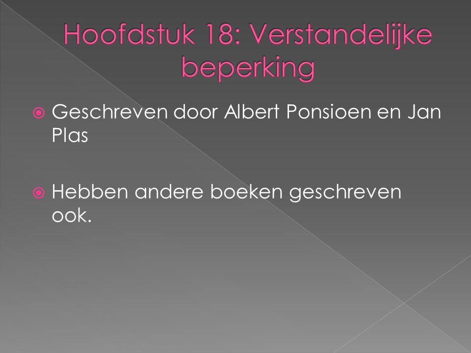  Geschreven door Albert Ponsioen en Jan Plas  Hebben andere boeken geschreven ook.