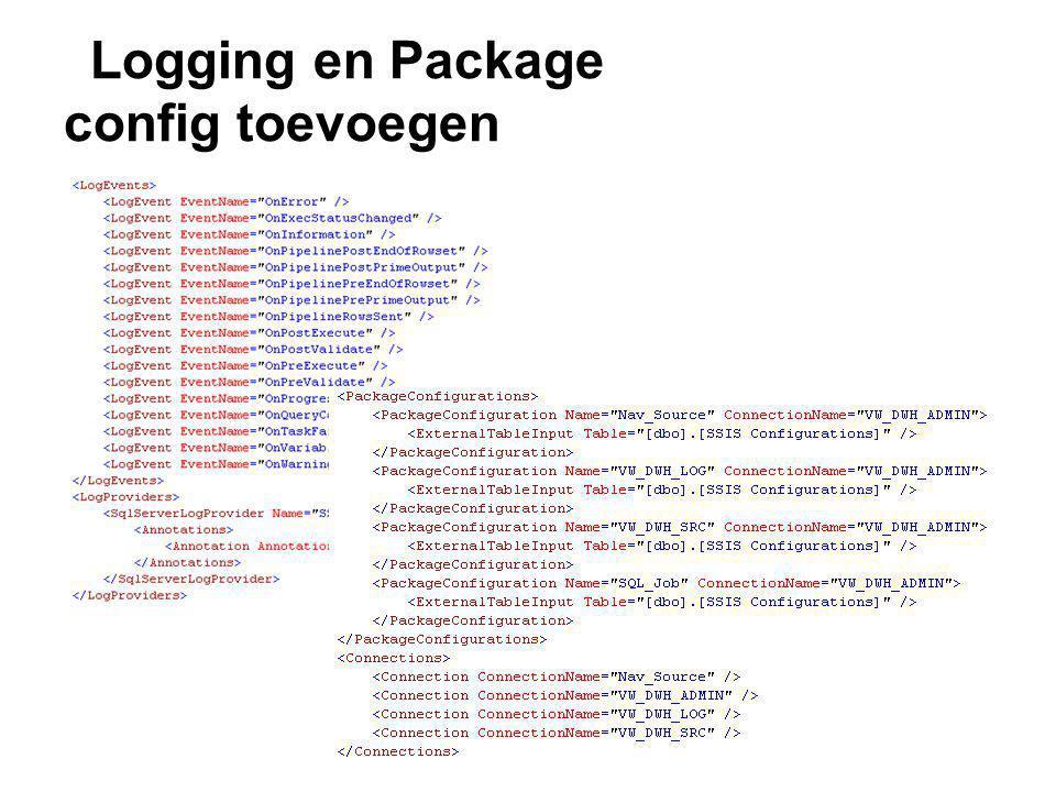 Logging en Package config toevoegen